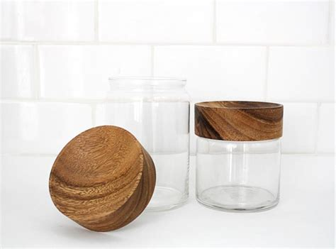 Italian Style Kitchen Canisters wood glass canisters design crush