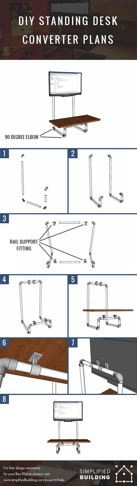 standing desk plans diy standing desk converter step by step plans
