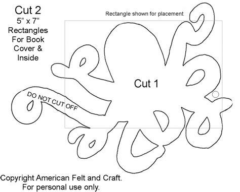 needle felting templates felt octopus needlebook american felt craft