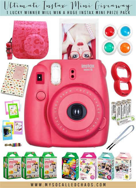 Contest Giveaway - mysocalledchaos win instax mini prize pack giveaways