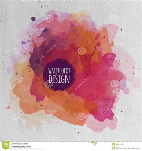 vector watercolor paint abstract background stock vector image 40044498