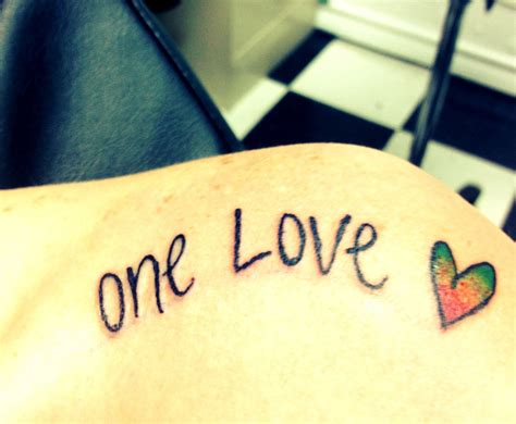 one love tattoos one images www pixshark images
