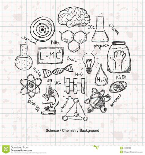 chemistry science background stock vector image 41939180