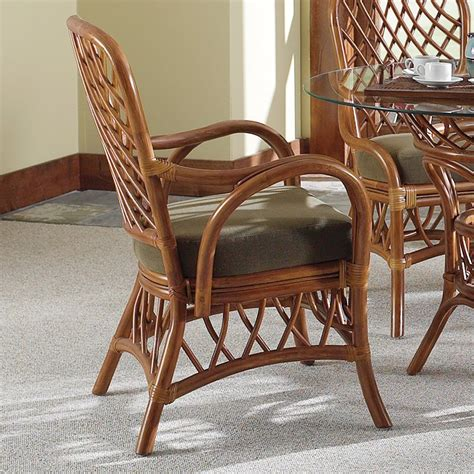 Bamboo Chairs Dining South Sea Rattan Wicker Furniture 3121 Antigua Arm Chair At Atg Stores