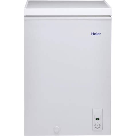 Freezer Haier haier 3 5 cu ft chest freezer in white hfc3501acw the