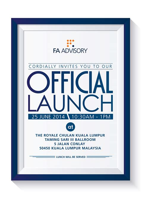 launching invitation card design official launch invite on behance