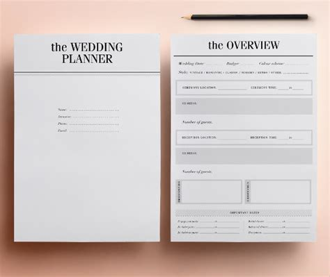 Sample Wedding Planner Template   21  Documents in PDF
