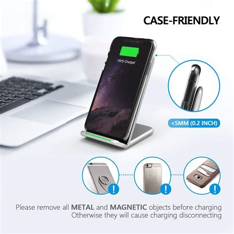 seneo  qi fast wireless charger  iphone xs