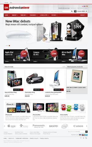 magento 1 4 themes design pdf em electronics magento 3c产品购物商城主题模板 weidea