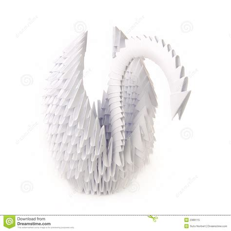 Origami Swan With Wings - origami swan royalty free stock photo image 2389115