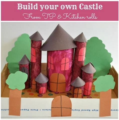 Toilet Paper Roll Castle Craft - 10 building themed toilet paper roll crafts