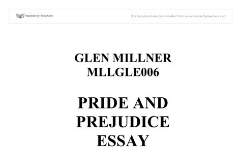 Pride And Prejudice Book Vs Essay by Essays On Pride And Prejudice