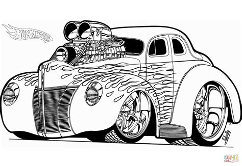 Hot Wheels Hot Rod Coloring Page Free Printable Coloring Rat Rod Coloring In