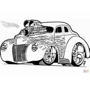 Disegno Di Hot Wheels Rod Da Colorare  Disegni