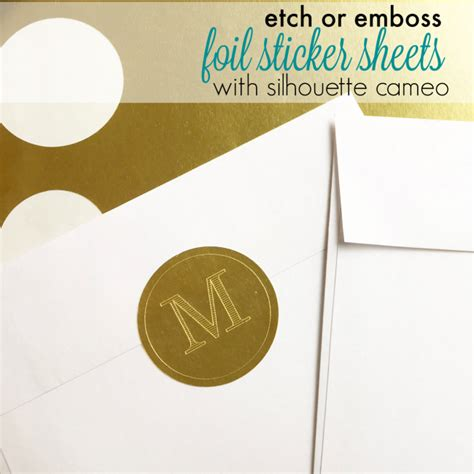 printable foil sticker paper etching and embossing on foil sticker paper with