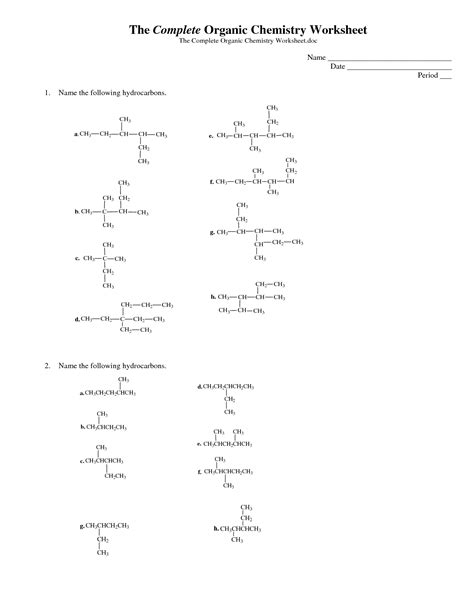 Organic Compounds Worksheet by Organic Chemistry Infographic The Complete Organic