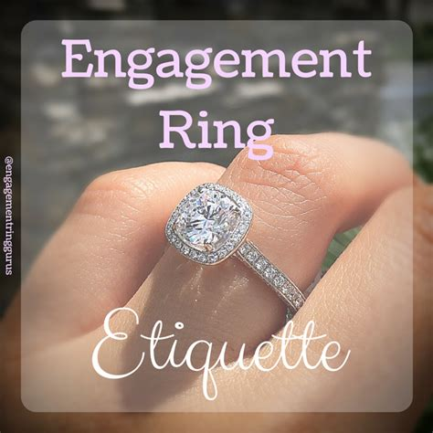 engagement ring etiquette everything to when he asks