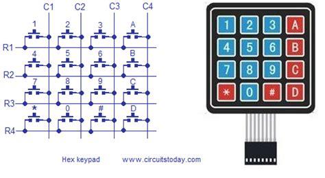 Hex keypad to arduino full circuit diagram theory and program
