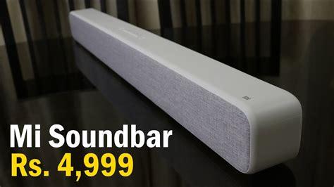 mi soundbar review   india   rs