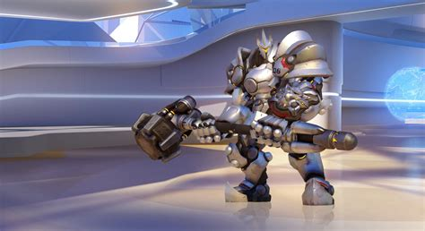 the of overwatch overwatch showcases reinhardt and his big hammer