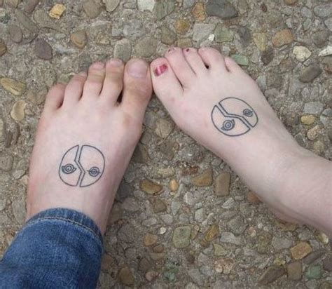 couple foot tattoos unique couples matching on foot unique wedding