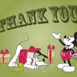 mickey pluto thank you card disney family