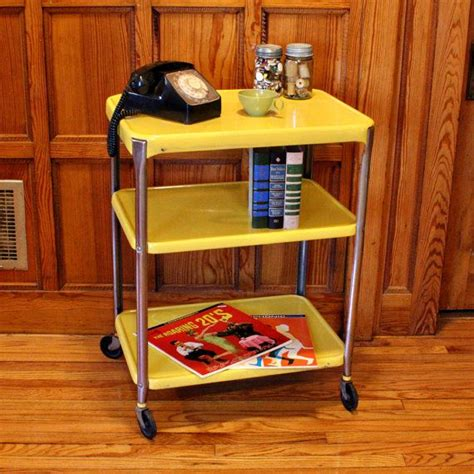 yellow kitchen cart 97 best images about vintage kitchen cart on