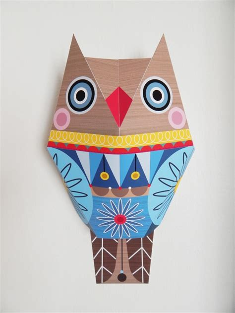 Paper Craft Wall - mr owl paper craft wall by giggenbach project