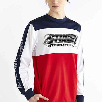 Sleeve Hoodie Bmx Navy stussy bmx sleeve crew neck from outfitters
