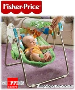 fisher price rainforest open top take along baby swing fisher price rainforest open top take along swing online