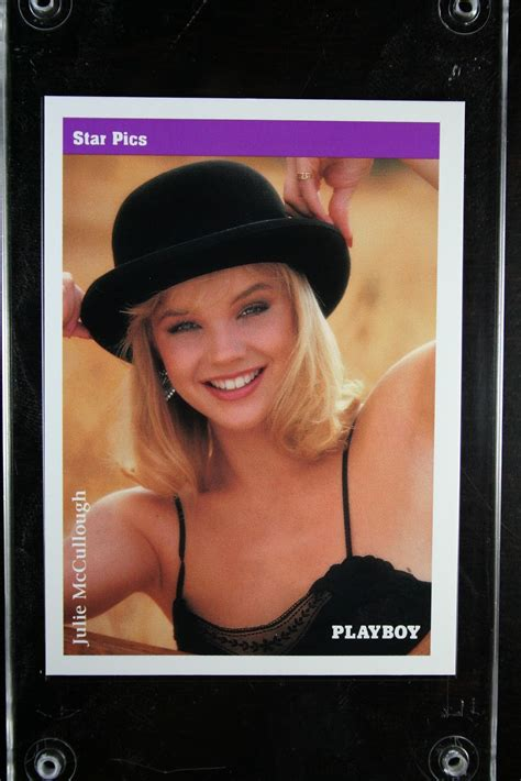 Julie Mccullough Playboy Photos - julie mccullough autographed 1992 playboy trading card by