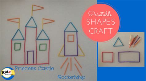 shapes crafts for printable shapes craft learning shapes a princess