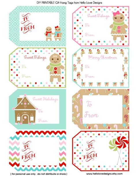 printable christmas cards pdf printable gift hang tags gingerbread pdf christmas