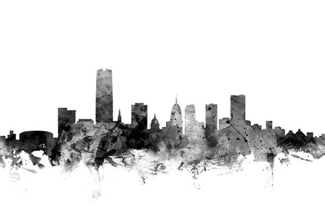 oklahoma city skyline digital art by michael tompsett