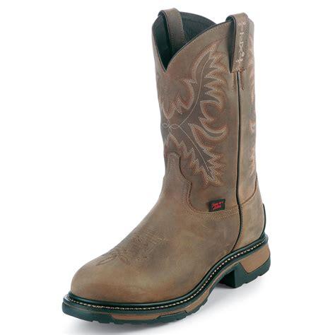 tony lama work boots tony lama s work boots western leather 11 quot tw1006