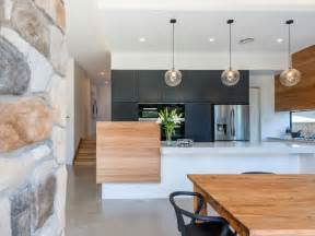 Charcoal Timber And White Modern Kitchen K I T C H E N Pictures Of Open Plan Kitchen And Dining Room