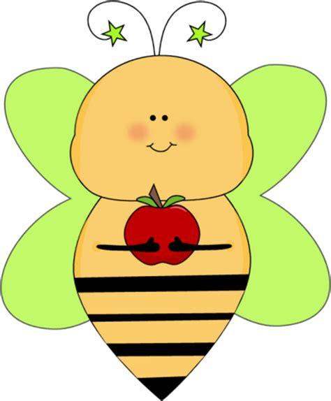 apple bee green star bee with an apple clip art green star bee