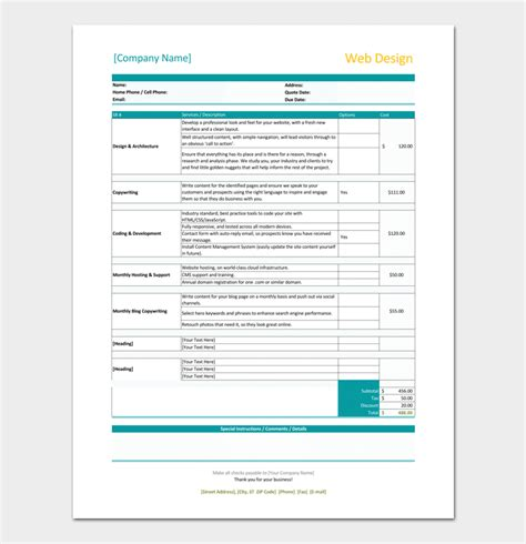website design invoice exle freelance invoice template 5 for word excel pdf format