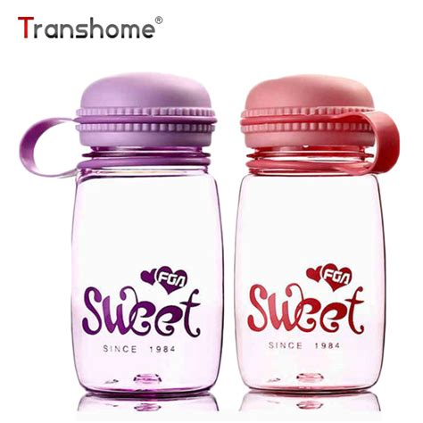 Botol Minum Cup Unbreakable Bottle 320ml transhome new macaron color plastic bottle 320ml kawaii outdoor sport unbreakable travel water