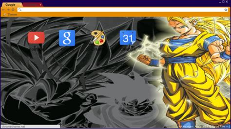 dragon ball z themes for google chrome super saiyan 3 goku chrome theme themebeta