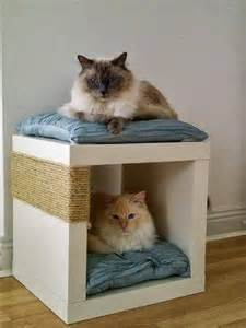 Build A Wooden Bedside Table by 10 Diy Cat Bed Ideas Diy And Crafts