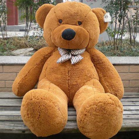 Boneka Big Brown Teddy 47 quot big plush teddy brown white 3 90 ft