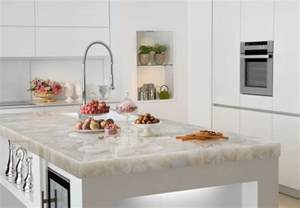 White Quartz Kitchen Countertops White Quartz Countertop Contemporary Miami By Marble Of The World