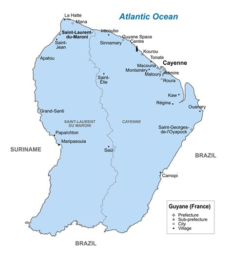 map of guiana south america guiana detailed political map with all cities