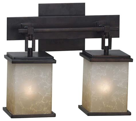 Craftsman Bathroom Lighting Plateau 1 Light Sconce Rubbed Bronze Finish Craftsman Bathroom Vanity Lighting By