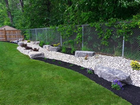backdrop garden 1 3 river rock black mulch