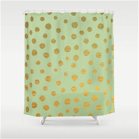 gold polka dot shower curtain shop gold dot shower curtain on wanelo