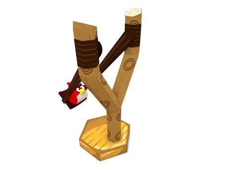 How To Make Paper Slingshot - slingshot angry bird papercraft p a p e r m e d i a