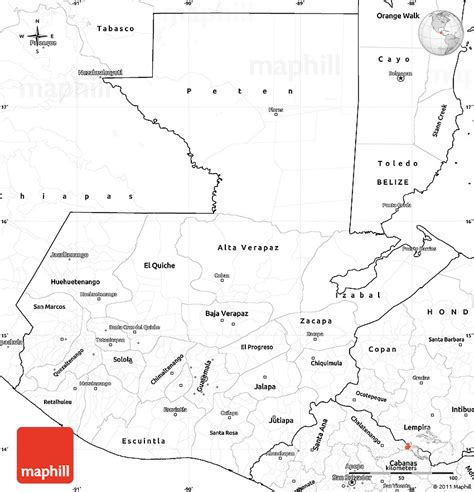 guatemala map coloring page blank simple map of guatemala