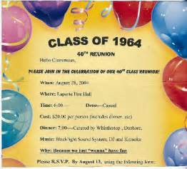 Class Reunion Template by Invitation For Reunion Graphics And Templates